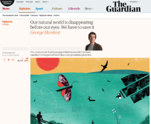 natural world is disappearing